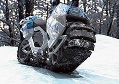 キャタピラ走行できるバイク「Hyanide」 - GIGAZINE