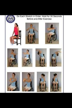 Wheelchair exercises and ROM (Mobility Exercises Physical Therapy) Stretching Exercises For Seniors, Chair Exercises, Stretches, Occupational Therapy, Physical Therapy, Senior Fitness, Fitness Tips, Senior Activities, Physical Activities