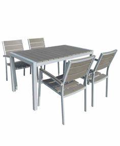 Τραπέζι Κήπου Αλουμινίου-Polywood-Ferrara Grey 140X80εκ