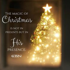 Call His presence into your home and heart this Christmas season and He'll stay all year long. God bless you! Christmas Quotes, Christmas Tree, In His Presence, Presents, Seasons, Holiday Decor, Instagram Posts, God, Christianity