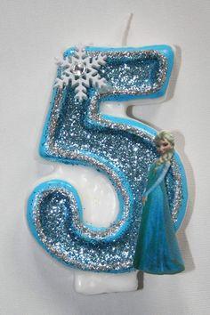 Elsa Birthday Candle Frozen Birthday Candle by LilMonkeyStitchesWV
