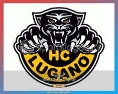 Sports Logos available at SportsLogos.in - get your team's logo for Embroidery or Print. Avail Buy 3 Get 1 Free offer now! buy once and use as many times as you want. Pantera Logo, Lugano, National League, Sports Logo, Embroidery Files, Vector File, As You Like, Team Logo, Switzerland