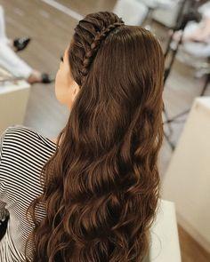 Free Hairstyle Hairstyle: 120 ideas + tutorials to leave the coke aside - . Penteado cabelo solto: 120 ideias + tutoriais para deixar o coque de lado – Loose Hairstyle: 120 ideas + tutorials to let the coke aside – Easy Hairstyles For Long Hair, Loose Hairstyles, Braided Hairstyles, Wedding Hairstyles, Indian Hairstyles, Hairstyle Ideas, Curly Hair Styles, Front Hair Styles, Medium Hair Styles