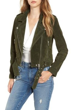 BLANKNYC 'Morning' Suede Moto Jacket available at #Nordstrom