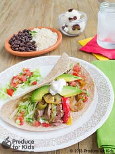 The slow cooker is a busy parent's best friend. Mix up this delicious nutrient-filled combination prior to heading out for the day and have a meal ready upon return. The kids will love building their very own steak fajitas.