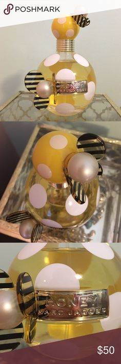 Honey by Marc Jacobs Perfume Honey by Marc Jacobs 3.4 oz/100ml perfume. NWOT, small defect (a butterfly wing is missing on cap). Received as gift. Marc Jacobs Other