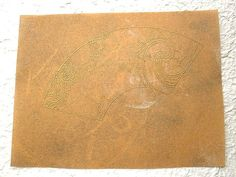 Vintage Japanese Gold Painting S807 For Katagami Stencil and Kashigata Sweets Mold by VintageFromJapan, $6.50