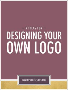 Since there are SO many directions you could go in, I wanted to create a post that goes over a few logo design tips and tricks, perfect for design beginners or more established brands who are looking for a little logo inspiration.  We're going to cover a few things that make up a great logo, including typography, font weights, adding color, pattern and texture, creating icons/ illustrations and much more. Click through to get started!
