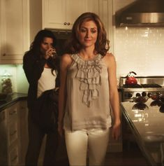 "These are Maura's pajamas! (: When Jane comes to the door Jane says:""Why do you always look like you're getting ready for a photo shoot?"" Ha ha! And it's funny. Maura almost never gets offended or even thinks twice when Jane says sarcastic things or something that would really hurt someone else. I love it!"