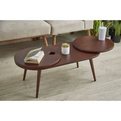 Coffee Table Size, Solid Wood Coffee Table, Mid Century Coffee Table, Modern Coffee Tables, Lazy Susan Table, Sofa End Tables, Furniture Deals, Mid-century Modern, Dining Chairs
