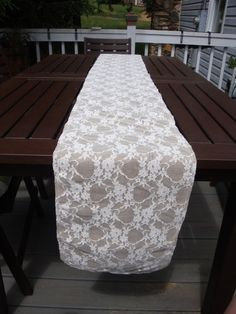 Burlap and Lace Wedding Table Runner  9' by RelicBelle on Etsy, $14.00