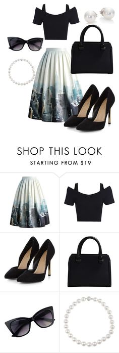 """""""New York"""" by larak24 ❤ liked on Polyvore featuring Chicwish, Victoria Beckham and Mikimoto"""