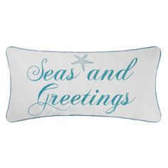 You'll love the Seasand Greetings Lumbar Pillow at Wayfair - Great Deals on all Décor & Pillows products with Free Shipping on most stuff, even the big stuff.