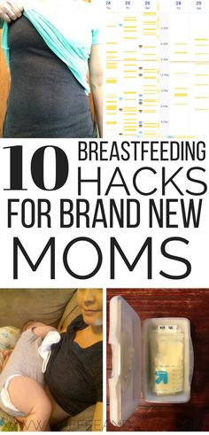 10 breastfeeding hacks for brand new moms! These simple nursing tips simplify breastfeeding and pumping. Check out these genius ways to make breastfeeding easier.