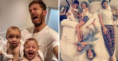 """If other people's perfect photos make you feel bad about yourself, it's because they don't show the reality! That's why Simon Hooper, father of 4 daughters, decided to show what parenting really looks like. The result? Now he has more than190k Instagram followers, and they're growing like crazy. """"My whole account is to show a realistic view of what parenting is like from a parent's perspective,"""" the dad told HuffPost."""
