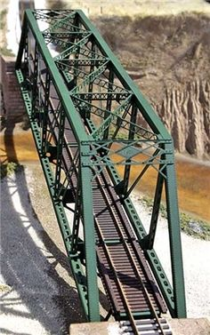 Central Valley Model Works 150 Pratt Truss Bridge Kit, with Punchplate Girders, HO Scale