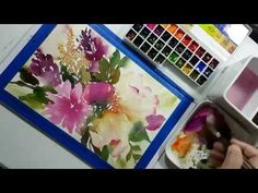 Watercolor painting process tutorial (speed painting) : How to draw pine trees - YouTube