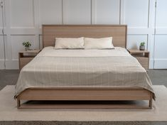 Tasmanian Oak Bedhead and Side Tables by Pedullá Studio. A simple yet elegant design perfect for the modern home. Oak Beds, Bed Head, My New Room, Bed Frame, Studio, Elegant, Modern, Table, Furniture