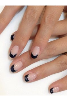 Or, just go dark completely for a mani that's equal parts elegant and edgy. If you want to DIY, pick up a tip guide for a profesh finish.