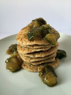 "Buckwheat and ""Blue Cheese"" Pancakes with Fig Sauce // Pancakes di grano saraceno e ""gorgonzola"" con salsa di fichi"