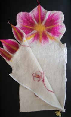 Saco de dormir bebé lana hermosa Flor de la por FeltedFeelings