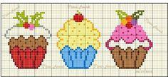 Birthday cupcake cross stitch.