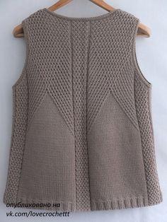 Gradient Baby Vest Making - bebek yelponcoyaplmliekleri - Baby Knitting Patterns, Knitting Stitches, Knitting Designs, Diy Crafts Knitting, Easy Knitting, Knit Vest Pattern, Sweater Design, Baby Sweaters, Knitwear