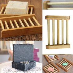 1 X Natural Wood Soap Tray Holder Dish Box Case Storage Novelty Shower Bath SP