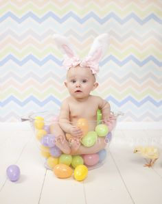 Easter Baby by Pottsville PA based photographer Krista Bevan of Kphotography, LLC