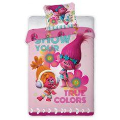 Trolls True Colours Duo Single Size Quilt Cover Set. Available at Kids Mega Mart online shop Australia www.kidsmegamart.com.au