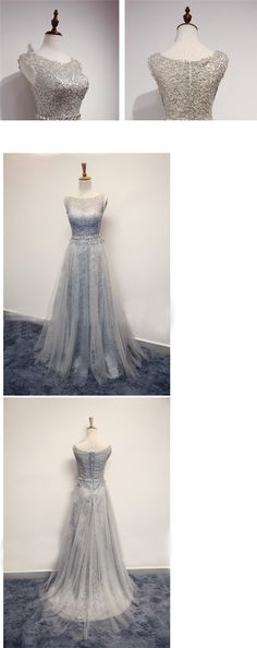 Cheap Tulle and Lace Sleeveless Modest Popular New Arrival Prom Dress, Elegant Bridesmaid Dress , PD0391