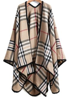 Shop Khaki Plaid Loose Cape Outerwear online. SheIn offers Khaki Plaid Loose Cape Outerwear & more to fit your fashionable needs.