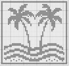 This would be a nice cross stitch instead of filet crochet. Filet crochet is not only beautiful but also relatively simple and highly versatile. It uses only chain and a double crochet stitches to create patterns . Tapestry Crochet Patterns, Crochet Motifs, Free Crochet, Crochet Stitches, Crochet Borders, Crochet Squares, Crochet Lace, Filet Crochet Charts, Knitting Charts
