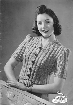 The Vintage Pattern Files: 1940's Knitting - Corticelli Fluffydown