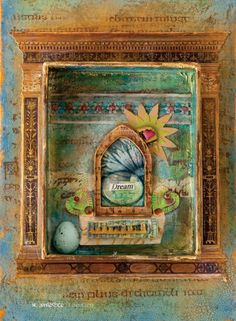 Turn found items into a mixed-media shrine celebrating creativity with this free how-to article download by Eva Watters.