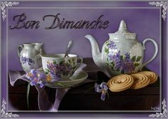 bon dimanche - Page 3 Bon Weekend, Coffee Time, Tea Time, Good Night Gif, Beautiful World, Tea Pots, Tableware, French Quotes, Type 3