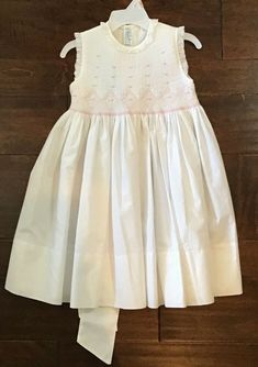 d9ca91742 feltman bros dress 3T white with beautiful smocking on top #fashion # clothing #shoes