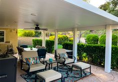 Metal Patio Covers, Patio Roof Covers, Aluminum Patio Covers, Outdoor Patio Designs, Outdoor Projects, Outdoor Decor, Outdoor Ideas, Covered Back Patio, Covered Pergola