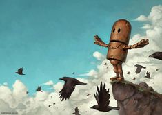 Robot Illustrations by Matt Dixon   Faith is Torment   Art and Design Blog