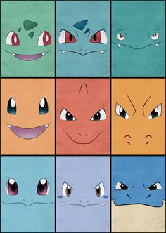 Pokemon Kanto Starter Posters Canvas Print