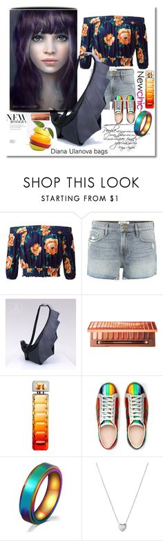 """NewChic"" by nelly-melachrinos ❤ liked on Polyvore featuring Frame, Urban Decay, HUGO, WALL, Gucci and Links of London"