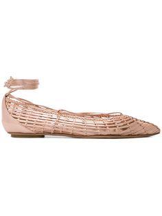 Casadei   Woven Ballerina Flats , Pink/Purple