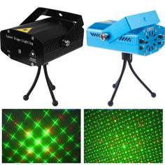 Mini LED Laser Projector Christmas Decorations for home Laser Pointer Disco Light Stage Party Pattern Lighting Projector Shower
