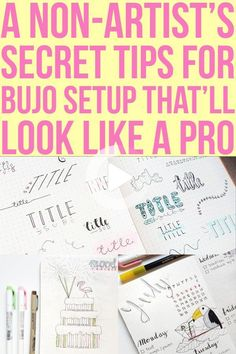 You want to give bullet journaling a try but you have no artistic talent? Check out this simple bullet journal setup guide for people with no art skills. #bulletjournalideas Bullet Journal Work, Creating A Bullet Journal, Bullet Journal For Beginners, Bullet Journal How To Start A, Bullet Journal Spread, Bullet Journal Layout, Bullet Journals, Bullet Journal Printables, Bullet Journal Ideas Pages