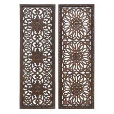 wood metal wall panel set of 2 httpwww - Decorative Metal Panels