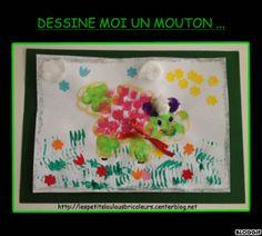 DESSINE MOI UN MOUTON  bricolage enfant