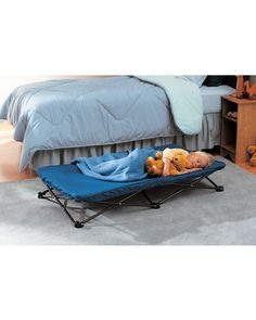 Whether she's camping out in the wilderness or in your bedroom, kids will sleep comfortably on this sturdy, portable cot. Click above to buy one.