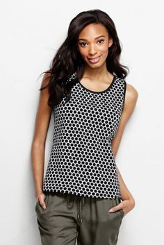 Women's Petite Cotton Tank Top - Print
