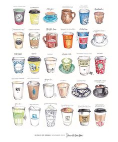 57 ers 572 ing 1 565 posts see photos and videos from samantha dion baker sdionbakerdesign Food Doodles, Coffee Illustration, Food Painting, Food Drawing, Cookie Drawing, Jolie Photo, Bubble Tea, Milk Tea, Bullet Journal Inspiration