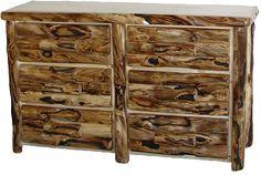 rustic aspen log 9 drawer gnarly dresser.jpg (1290×869)